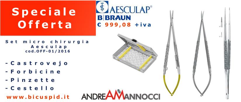 Set Micro Chirurgia Aesculap componente - Offerta set Microchirurgia OFF-01:2016 - Immagine in Evidenza