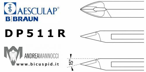 Tronchese per legature Aesculap BBraun con inserti in carburo di tungsteno, Punte taglienti angolate a 15°