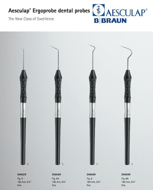 Ergoprobe Aesculap serie di Specilli per dentista