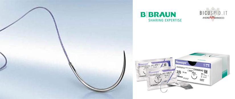 Novosyn suture assorbibili BBraun intrecciata