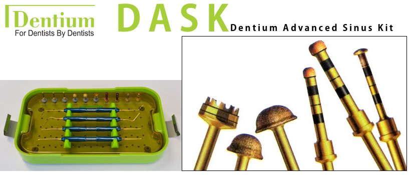 Il DASK Dentium per il Rialzo di seno per via Crestale e Laterale: il kit definitivo