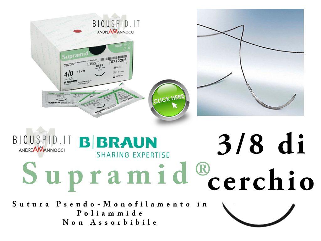 Supramid suture 3/8 di cerchio vedi i prezzi