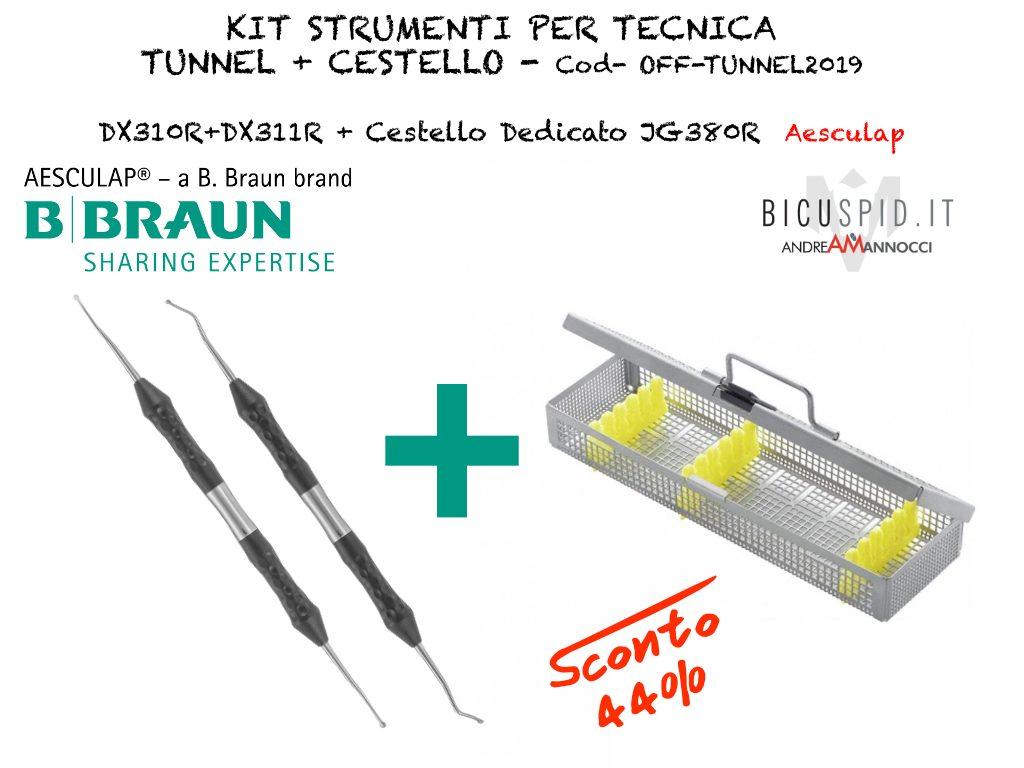 Offerta strumenti tunnel e cestello Aesculap